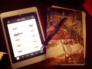 スケジュールアプリiPad miniとノート