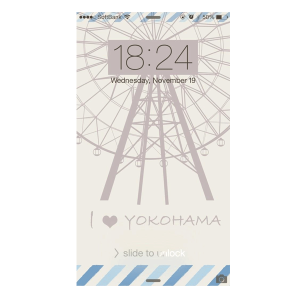 iPhone6ロック画面横浜