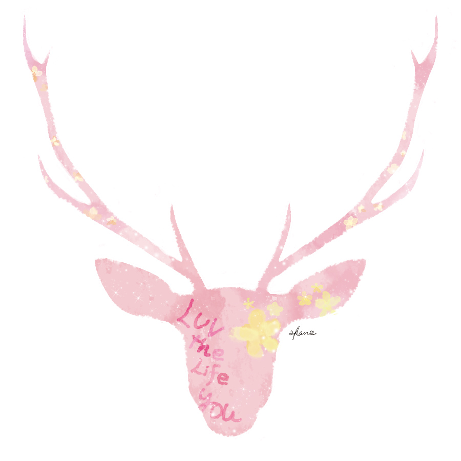 ピンクの鹿