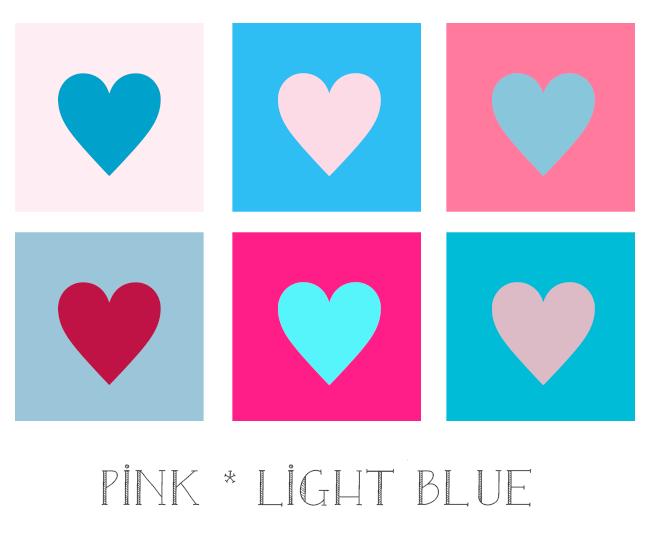 ピンクと水色