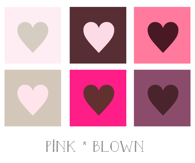 ピンクとブラウン