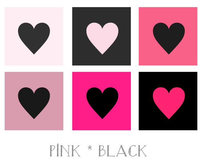 ピンクと黒