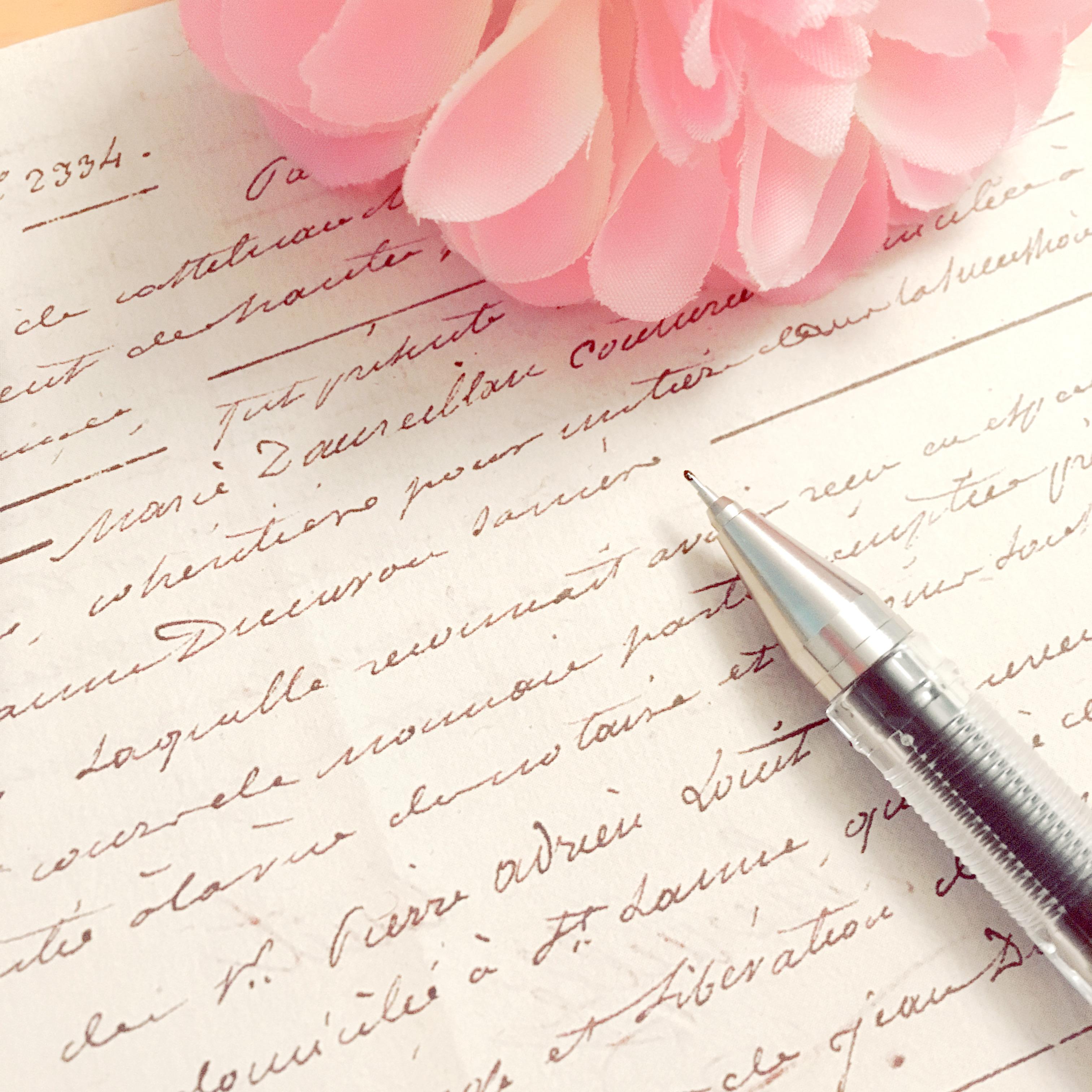 英語の手書き